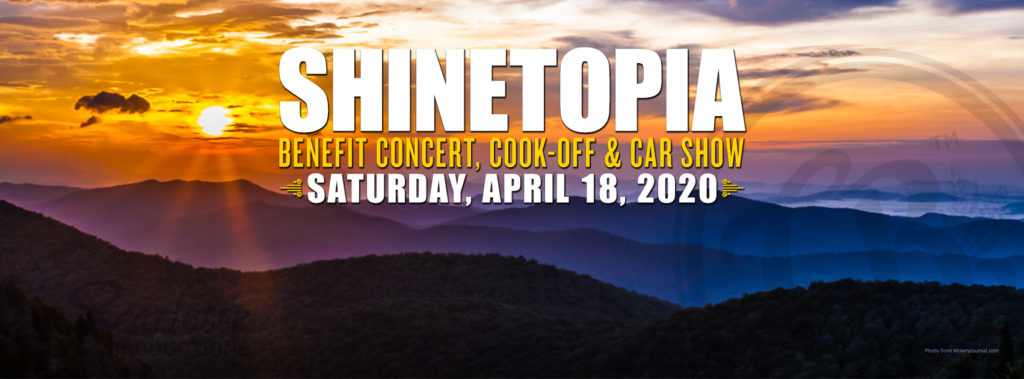 Shinetopia Festival on April 18, 2020 with $1,000 in prizes, craft beer, show cars, acorn crafts, food trucks, live music, a kids zone and train rides. Proceeds to benefit a non-profit.